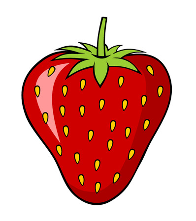 Abstract illustration of a strawberry cartoon style Vettoriali