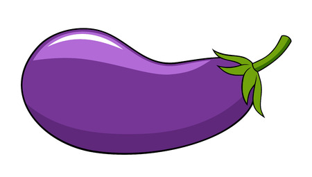 aubergine: Abstract illustration of an aubergine cartoon style