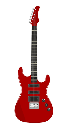 chord: illustration of an electric guitar