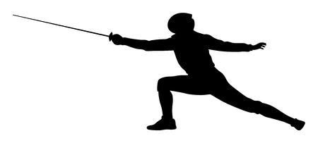 Vector illustration of fencer silhouette Banco de Imagens - 85021120
