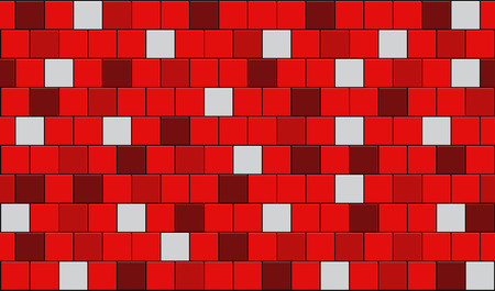 3d render of red tiles texture with black gap Stock Photo
