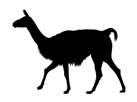 Abstract vector illustration of a llama silhouette