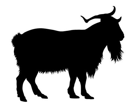 Vector illustration of goat silhouette