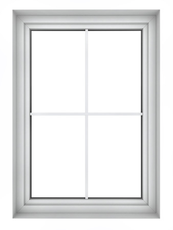 3d Render Of Plastic Window Frame Isolated On White Background Stock ...