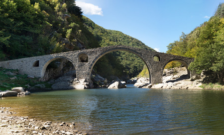 The Devil's bridge close to Ardino town, Bulgaria Banco de Imagens