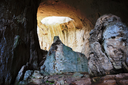 Prohodna cave situated in north Bulgaria