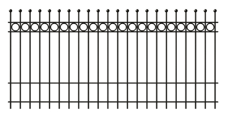3d render of iron lattice fence isolated on white background Stock Photo