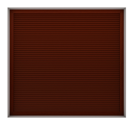 3d render of wooden window frame with external blinds isolated on white background