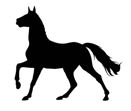 Vector illustration of running horse silhouette Ilustrace