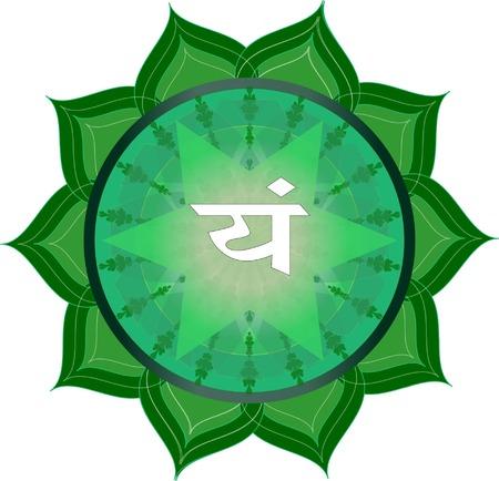 anahata: Anahata Chakra Symbol Illustration