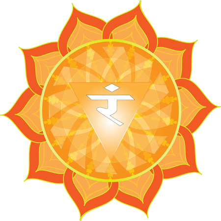 kundalini: Manipur Chakra Symbol Illustration