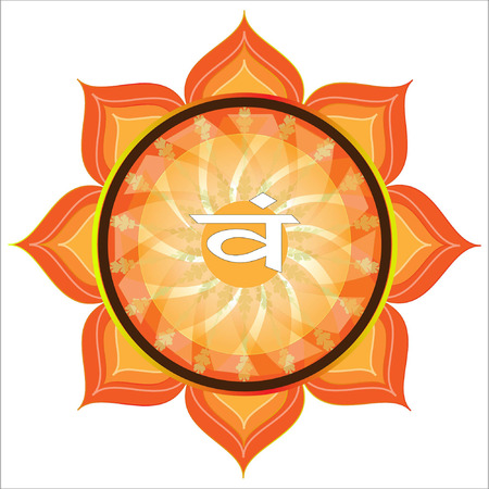 swadhisthana: Swadhisthana Chakra S�mbolo Vectores