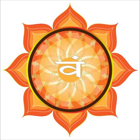 swadhisthana: Swadhisthana Chakra Symbol Illustration