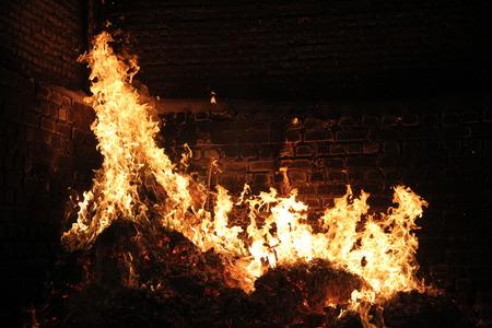 Horno de horno de leña, fondo de horno de fuego