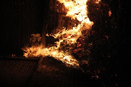 Fireplace kiln paper, fire oven background Stock Photo