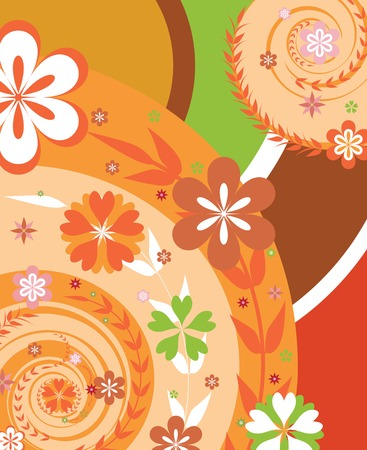 abstract flowers: floral design background  Illustration