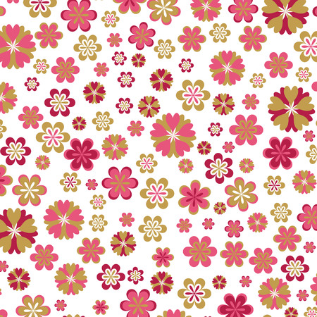 pink floral background Stock Vector - 3073628