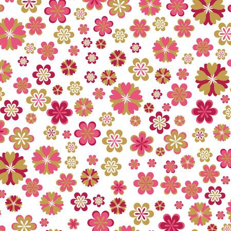 elegant vector: pink floral background