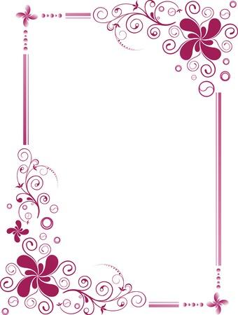 floral: Floral Design Border Frame