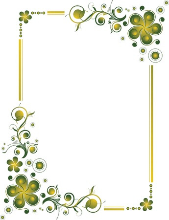 green leaves border: Floral Design Border Frame