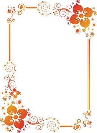 marriage certificate: Floral Design Border Frame