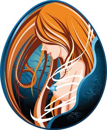 salon and spa: woman Illustration
