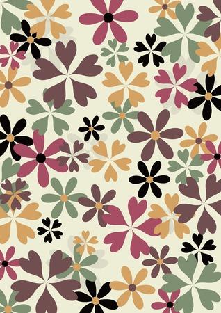autumn colour: color flowers pattern Illustration