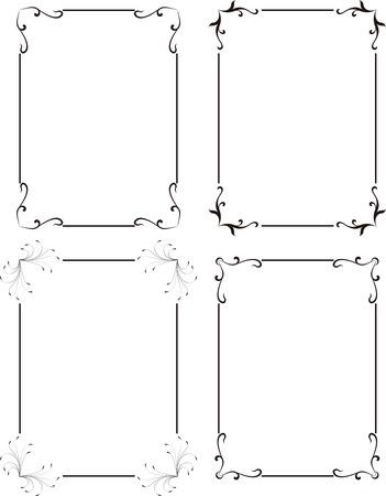 elegant design frame Illustration