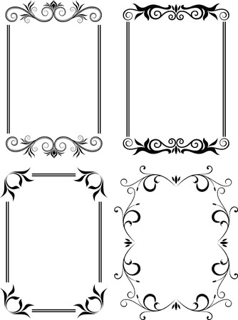 swirly: floral design frame 1 Illustration