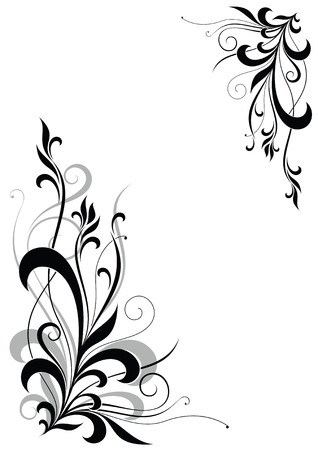 abstract floral corner Stock Vector - 4206096