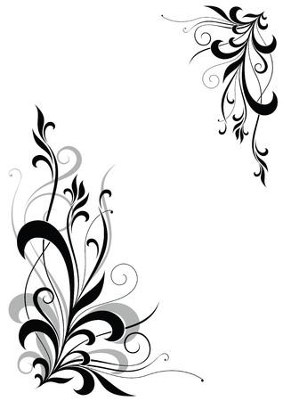 esquineros florales: resumen florales esquina