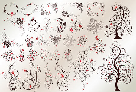 swirly: floral design elements