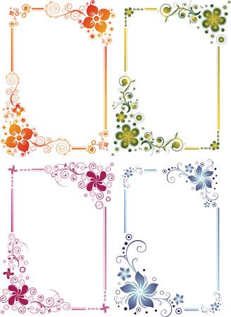 floral border frame set Illustration