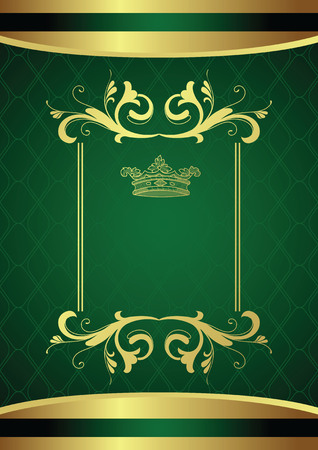 royal background: classic frame