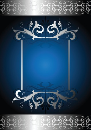 royal blue background: elegance design frame