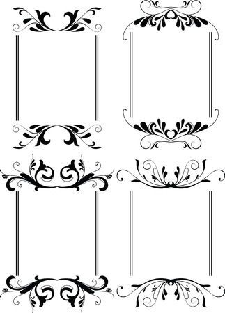 scroll border: floral border frame 3