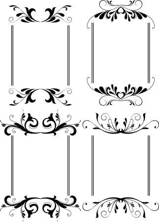 bordure floral: fronti�re floral frame 3 Illustration