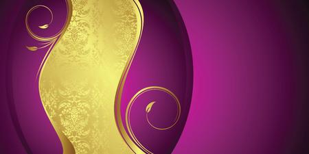 golden texture: gift card Illustration