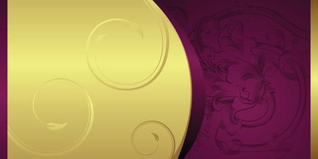 purple texture: gift card Illustration