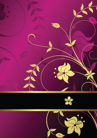 gold textured background: Elegance Floral Background