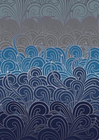 Blue Swirly Pattern Vector