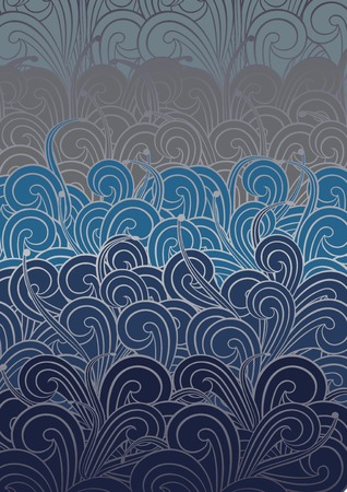 vector waves: Blue Swirly Pattern