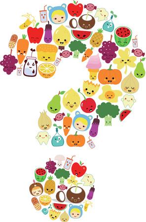Food Fruits Vegetable 1-3 Illustration