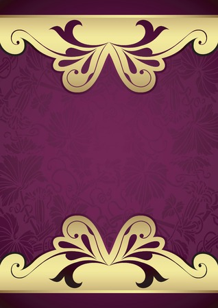 gold textured background: Purple Floral Background Illustration