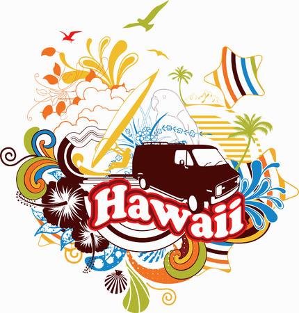 Summer Vacation in Hawaii Stock Vector - 5101382