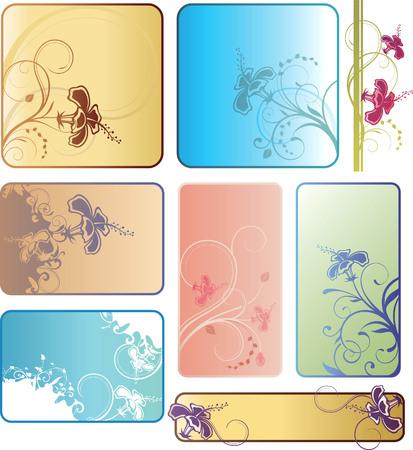 Hibiscus Background Set Vector