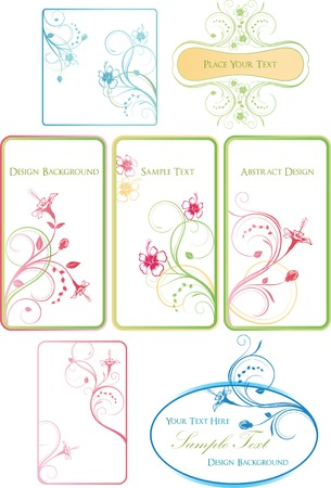 Hibiscus Frame Set Vector