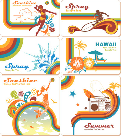 Summer Vacation Backgrounds Stock Vector - 5135437