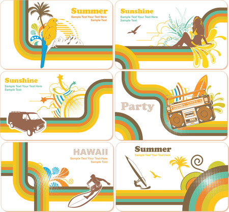 Summer Holiday Backgrounds Illustration