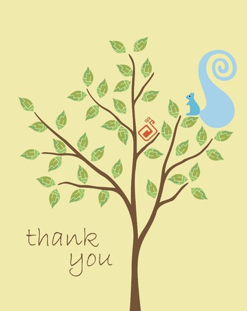 Thank YOu Card Illustration